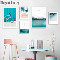 Wholesale ocean wave art for sale - Group buy Scandinavian Tropical Ocean Waves Canvas Wall Art Poster Nordic Landscape Print Painting Decoration Pictures Modern Home Decor