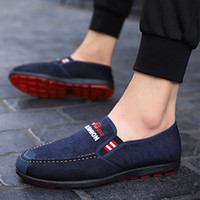 Wholesale old peking shoes for sale - Group buy Old Peking Cloth Shoes Men Loafers Spring Casual Shoes for Men High Quality Soft Moccasins Plus Velvet Flats Driving