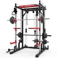 Smith machine steel squat rack gantry frame fitness home comprehensive training device free squat bench press frame.1