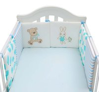 Wholesale baby bear crib bedding set for sale - Group buy 6Pcs Set Infant Cartoon Bear Crib Bumper Bed Protector Baby Kids Cotton Cot Nursery Bumper Baby Anti collision