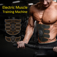 Wholesale electric roller machine for sale - Group buy Electric Abdominal Muscle Training Machine Body Slimming Fat Burning Exerciser Fitness Buttock Tighter Stimulator With Hydrogel