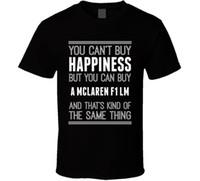 ingrosso comprare vestiti di cotone-Acquista A McLaren F1 LM Happiness Car Lover T Shirt 100% cotone manica corta O-Collo Top Tee Shirts Stampa T Shirt Uomo Abbigliamento di marca