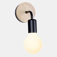 iluminación industrial vintage europa al por mayor-¡Promoción! li interior de la pared de la lámpara moderna del norte de Europa metal de la vendimia Industrial Iluminación de interior Lámparas de pared LED Industrial