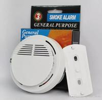 sensor de alarma de humo al por mayor-2019 Detector de humo Sistema de alarmas Sensor de alarma de incendio Detectores inalámbricos separados Seguridad para el hogar Alta sensibilidad LED estable Batería de 85DB 9V