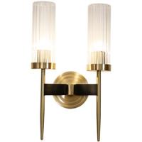 "16"" High Warm Brass Wall Sconce Bronze 2-Lights Copper Bronze Light Bathroom Light Euro LED Reading Wall Lamp"