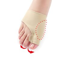 llave de dedo del pie valgo al por mayor-Hallux Valgus apoyos de pies dedo gordo del pie Calcetines ortopédicos corrección dedos del pie Separador atención del dolor Protege a aliviar el hueso del pulgar 2pcs de la manga / juego RRA1528