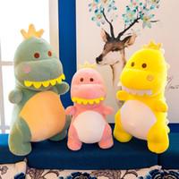Wholesale girls gifts for sale - Cute Dinosaur Stuffed Toy Cartoon Nap Plush Doll Yellow Green Gift Birthday Soft Lovely Girls Kid Baby cm cm cm yy D1