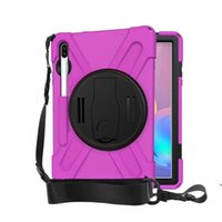 Wholesale armor shockproof ipad mini case for sale - Group buy new for Samsung T860 T865 T867 T390 T395 Hybrid Shockproof Armor Holder with Shoulder strap