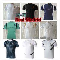camisetas de fútbol de manga corta al por mayor-2019 2020 Real Madrid camiseta de fútbol Camiseta de entrenamiento de manga corta de calidad 19 20 PELIGRO MODRIC MARCELO ASENSIO camisas de polo de Tailandia de fútbol