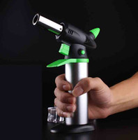 Wholesale heavy torch resale online - XXL C Butane Scorch torch jet Gas flame lighter Giant Heavy Duty Refillable Micro Culinary Torch BBQ For Smoking Styles Choose