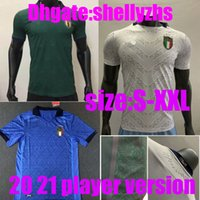 Wholesale italy soccer team resale online - Player version Italy home away white rd Soccer Jerseys Men italia player Renaissance Soccer Shirt national team Football uniform