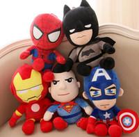 Wholesale spiderman stuff toys resale online - The Avengers Plush Toys Hulk Thor Captain America Spiderman Stuffed Plush Toys cm