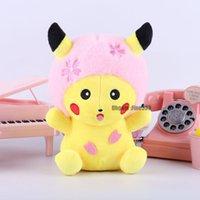 аниме девочка мальчик игрушка оптовых-Новый Прибывший Pikachu Плюшевые игрушки 20CM Чучела Kawaii Anime Плюшевые игрушки для детей мальчиков и девочек День рождения Рождество