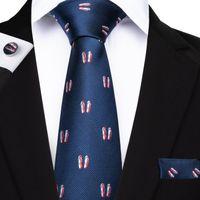 Wholesale sport suits for sale resale online - Hi Tie Latest Design Mens Tie on Sale High Quality Cufflinks Hankerchief Tie Set for Mens Casual Suit N