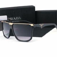 gafas de sol azules para las mujeres al por mayor-Gafas de sol con lentes de vidrio de la mejor calidad Gafas de sol de espejo azul con montura dorada de moda de diseñador para hombres y mujeres Gafas de sol deportivas UV400 con caja