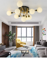 Wholesale luxury ceiling lights for sale - Group buy Postmodern light luxury ceiling lamp living room designer minimalist industrial wind magic bean glass ball ceiling light