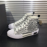 Wholesale red high top sneakers for sale - Group buy 2020 B23 Oblique High Low Top Sneakers Obliques Technical Leather SS Flowers Technical Outdoor Casual Shoes Technical Leather Luxury Shoes
