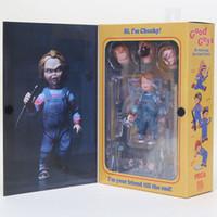 juguetes para chicos al por mayor-10cm Good Guys CHUCKY Juego de niños Miedo de la novia de Chucky Horror Good Guys PVC Figura de acción de colección Modelo Muñeca de juguete
