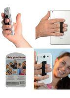 parmak tutamağı toptan satış-Sıcak satış elastik band cep telefonu askısı sıkışmış Dokunmatik Tutucu Parmak Yüzük akıllı telefon Cep telefonu Için s ...