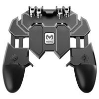 controlador de joystick móvil al por mayor-Controlador de juego móvil todo en uno de seis dedos Artefacto Juego gratis Botón de la tecla de disparo Joystick agarre del teléfono celular Gamepad L1 R1 Disparador para PUBG