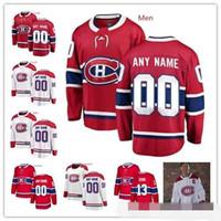 ingrosso montreal canadiens giovani-Custom Montreal Canadiens Red White100th Classic Jersey Qualsiasi numero Nome uomo donna bambino ragazzo Blu Domi Kotkaniemi Danault Petry Tatar Prezzo