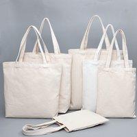 ingrosso borse da viaggio usati-Canvas Tote Bag Grocery uso quotidiano riutilizzabili in cotone Borsa della spesa Student fai da te Canvas Handbags viaggio casuale Shopping Bags