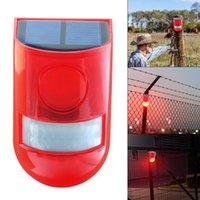 ingrosso sensore di suono della lampada principale-Novità Allarme solare Luce 110db 6 lampada solare principale impermeabile Spie luminose solari Allarme acustico Lampade sensore di movimento con
