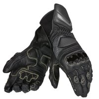 длинные черные мотоциклетные перчатки оптовых-Мотоцикл для Dain Carbon D1 длинные черные кожаные перчатки для гонок по бездорожью мужские перчатки 3 цвета по желанию