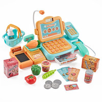 Wholesale toys shopping games resale online - 24pcs Real life Groceries Toys Simulated credit card cash register Supermarket game Shopping pay money Learning Education toys