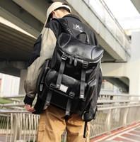mochilas coreanas para homens venda por atacado-Fábrica de atacado da marca dos homens bolsa de grande capacidade do computador saco de multi-bolso de couro mochila coreana moda mochila de viagem de couro estudante
