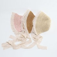 Wholesale kids wide brim straw hat for sale - Group buy Girls Lace Straw Hat Kids Cute Summer Beach Sun Hat Casual Lace Wide Brim Floppy Hat Little Princess Sun Protection Travel Hats C867