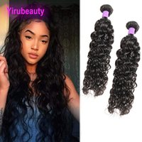 Wholesale virgin wavy curly hair weaves resale online - Indian Virgin Human Hair Extensions Water Wave Two Bundles Indian Human Weaves Bundles Wet And Wavy Curly inch