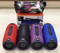 alto-falante do tambor venda por atacado-Bluetooth Subwoofers Hifi Speaker com cordão Outdoor portátil Soundbox Altifalante Bateria Carga Waterproof Coluna FM Music Player TG125