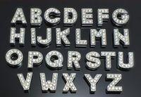 letras bling pulseira venda por atacado-8 mm a-z strass completo bling slide letras acessórios diy fit para 8mm pet colar de couro pulseira