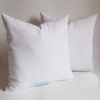 персонализированное печатное полотно оптовых-Весь размер 8 унций чистый хлопок холст наволочка со скрытой молнией натуральный белый цвет пустой хлопок чехлы для пользовательских / DIY печати