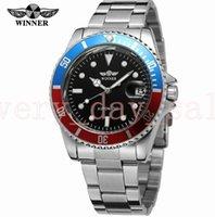 relógio de luxo vencedor venda por atacado-VENCEDOR Homens Luxo 40mm Marca Data de Exibição de Aço Inoxidável Relógio Mecânico Automático de Negócios relógio de Pulso Relogio Relegios 116610lv