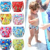 pantalones de baño para niños pequeños al por mayor-Pudcoco 2018 recién llegado de verano nadar pañal pañal pantalones reutilizable ajustable Baby Boy Girl Toddler Short pantalones de natación populares