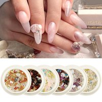 Wholesale crystals stores resale online - Diy Nail Round Box Diamond Jeweiry Crystal Pearl Metal Mix and Match Nail Art Decorations New Style Fashion Solon Store Royal Style