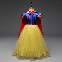 Wholesale dot cosplay for sale - 110 big girls cosplay dress baby girl princess skirts with long cape and knot children christmas halloween children s day formal wear