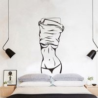 Wholesale quotable wallpapers resale online - Sexy girl Wall Sticker Creative living room bedroom decoration Mural Art Decals wallpaper home decor Fitness stickers