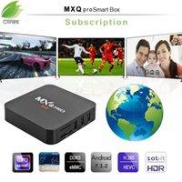 caja de tv inteligente de android 1 gb al por mayor-¡¡PC 1!! MXQ pro servidor de suscripción de 1 GB 8 GB Amlogic S905W europa para Android Smart TV Reino Unido EE.UU. Canadá Australia España Francia Italia
