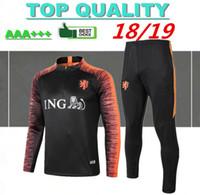 ternos de treino venda por atacado-2018 Holanda Futebol Jaqueta Treino 18 19 chandal Holanda ternos de treinamento ROBBEN MEMPHIS PERSIE Camisa de futebol treinamento roupas esportivas