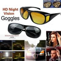 gece görüş gözlükleri polarize güneş gözlüğü toptan satış-Araç Gece Görüş Sürücü Gözlüğü Polarize Güneş Gözlüğü Unisex HD Vision Güneş Gözlük Gözlük UV Koruma Araç Sürüş Gözlük