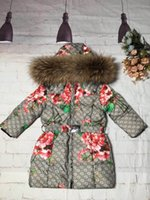 unten mantel große mädchen großhandel-Vieeoease Big Girls Mantel Weihnachten Kinder Mantel 2019 Wintermode Langarm warme Jacke Babykleidung Daunenjacke Hoodie Baby clothes68