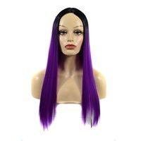 güzel uzun saçlı kadınlar toptan satış-60 cm Kadın Moda Uzun Düz peruk Lady Saç Cosplay Parti Peruk Kadınlar için Yüksek Yoğunluklu Sıcaklık Afrika Güzel 2019 yeni