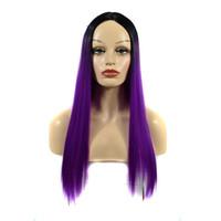 красивые длинные волосы женщины оптовых-60cm Women Fashion Long Straight wig Lady Hair Cosplay Party Wig High Density Temperature for Women African Beautiful 2019 new