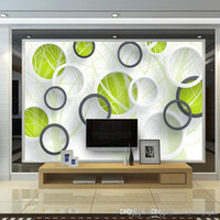 Wholesale rose abstract paint art for sale - Group buy Custom Photo Wall Mural Abstract Tree D Circles Living Room Sofa TV Background Wallspaper Modern Art Painting Mural Wallpapers