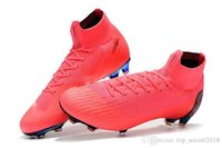 ingrosso delle donne tacchetti da calcio all'aperto-Scarpe da calcio Original Color rosa Mercurial Superfly VI 360 Elite FG Scarpe da calcio per bambini all'aperto Soft Spike Game Over Womens Soccer Cleats