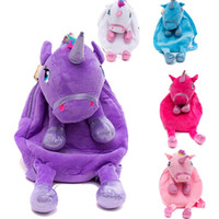 ingrosso zaini del fumetto popolare-Zaino morbido di alta qualità Unicorn Cartoon Lusso Popolare Zaino Bambini Delicato regalo di compleanno Lovely Lively Animal Schoolbag 17xc Ww
