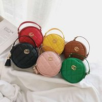 Wholesale korean cross body bags resale online - Baby girls mini round bag kids designer bags children baby princess coin purse korean cross body chain bags